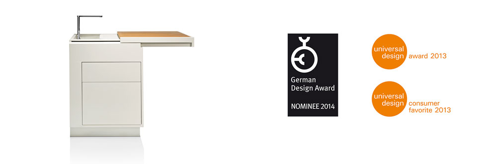 Akitchen, German Design Award Nominee 2014, Universal Design Award 2013, Universal Design Consumer Favorite 2013